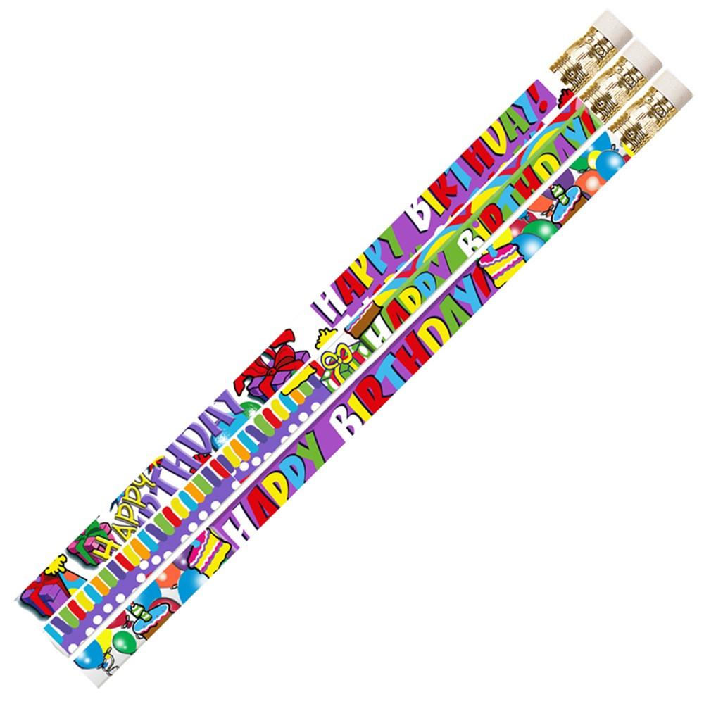 MUS1355D - Birthday Supreme 12Pk Motivational Fun Pencils in Pencils & Accessories