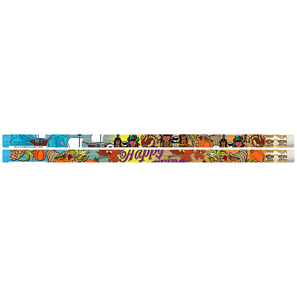 MUS1561D - Thanksgiving Glitz 12Pk Motivational Fun Pencils in Pencils & Accessories