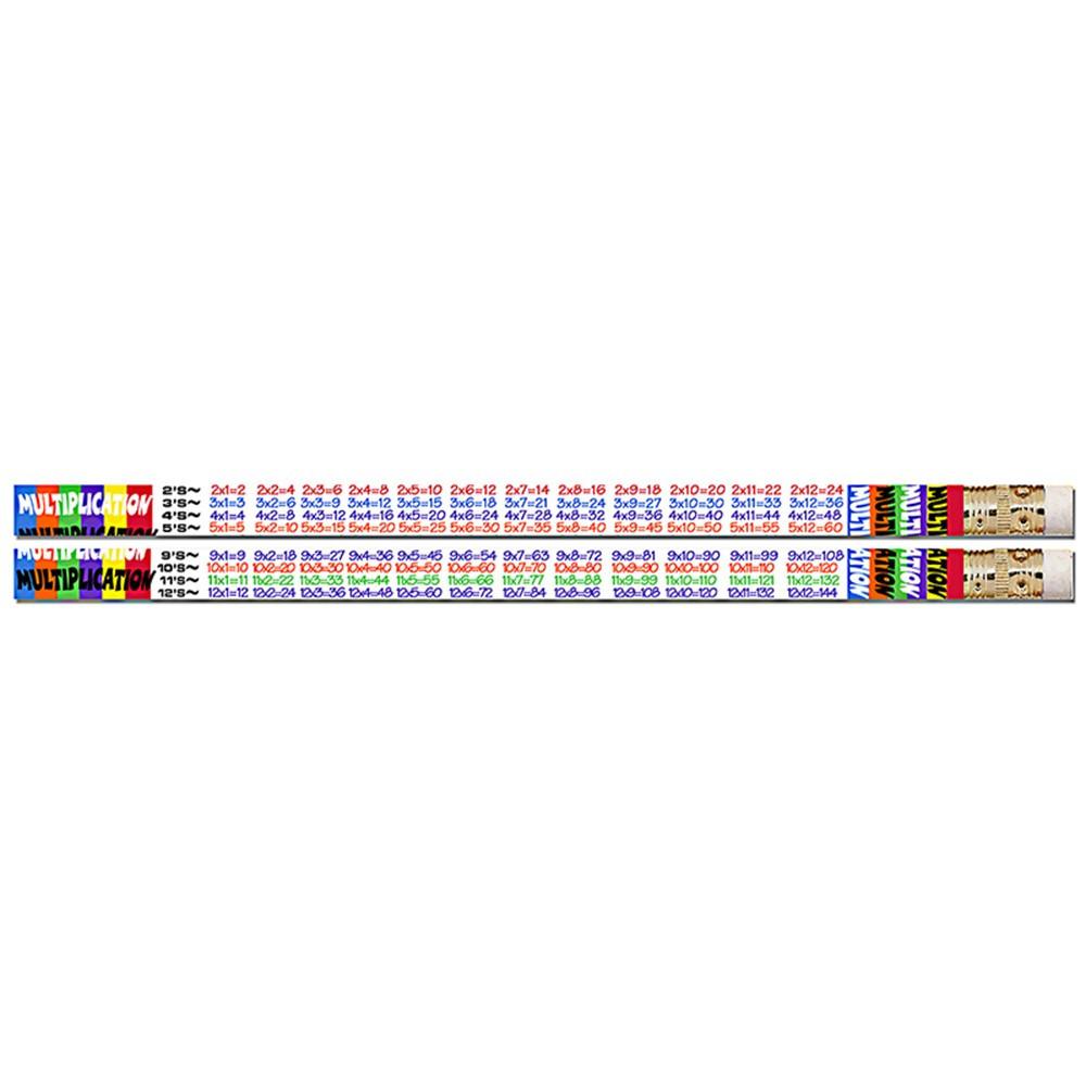 MUS2348D - Multiplication Tables 12Pk Motivational Fun Pencils in Pencils & Accessories