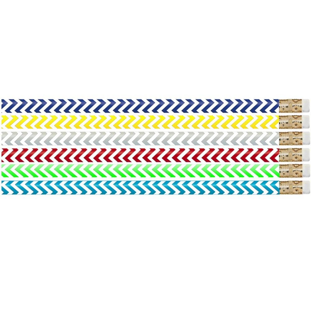 MUS2540D - Chevron Chic Pencil Pack Of 12 in Pencils & Accessories