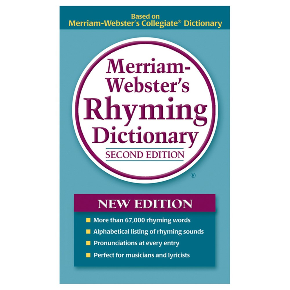 MW-8540 - Merriam Webster Rhyming Dictionary Paperback in Reference Books