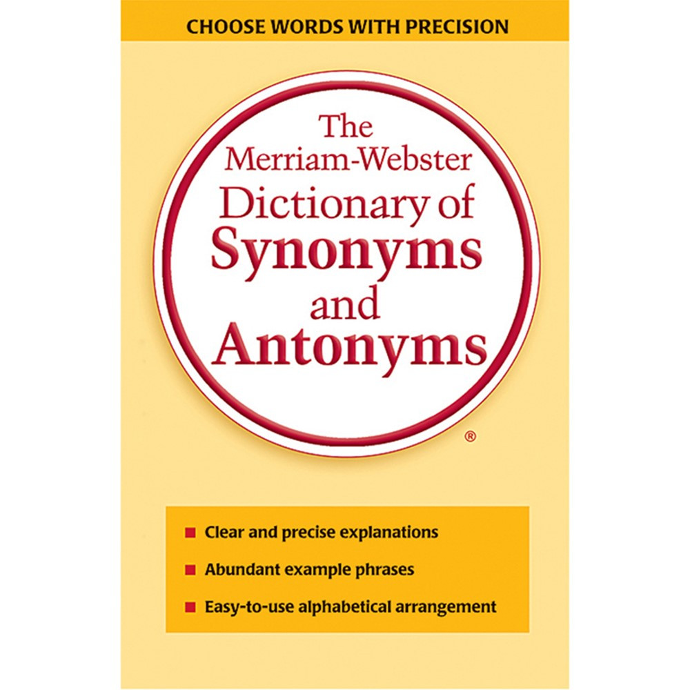 Merriam Websters Dictionary Of Synonyms & Antonyms Paperback