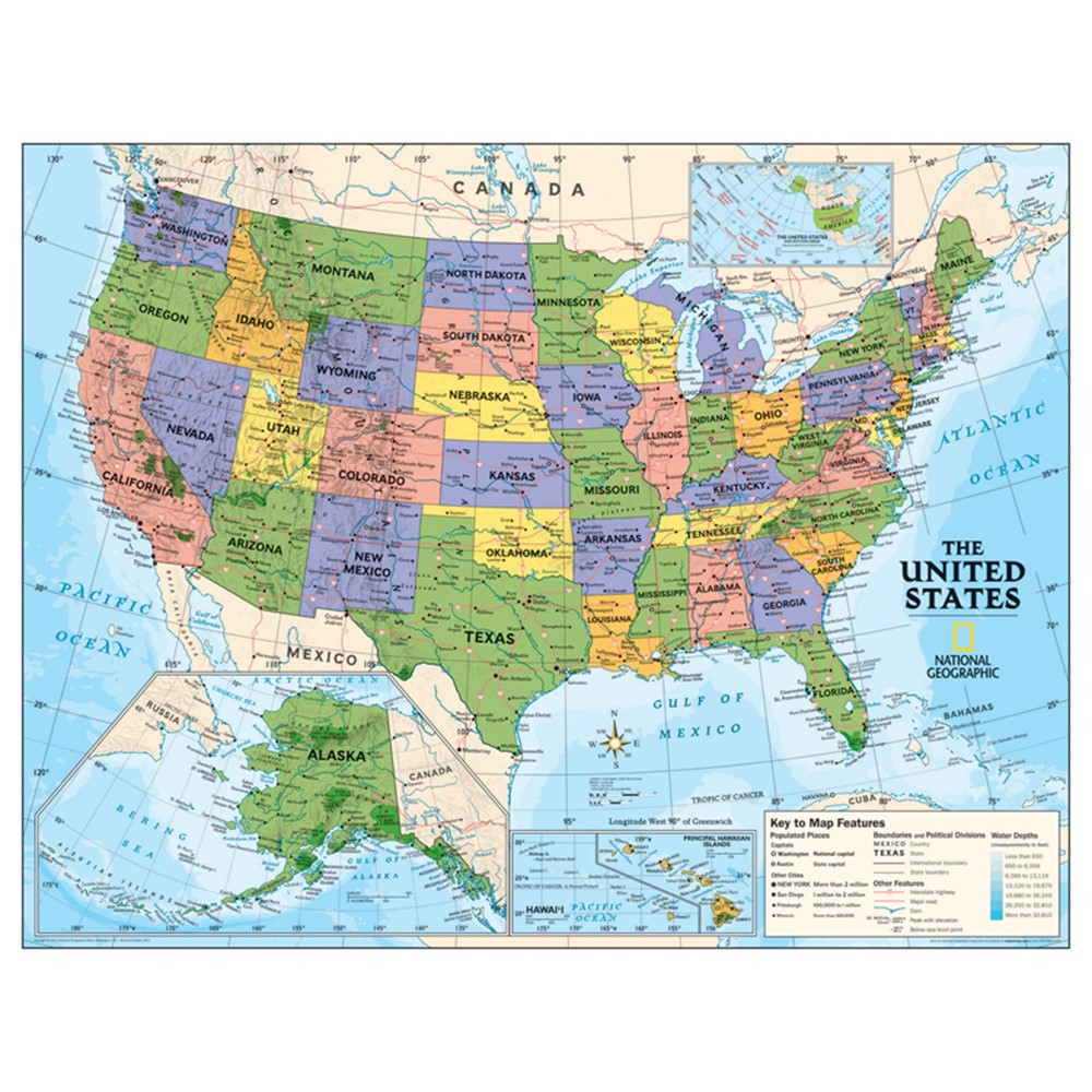 NGMRE01020567 - Political Series Usa Map in Maps & Map Skills