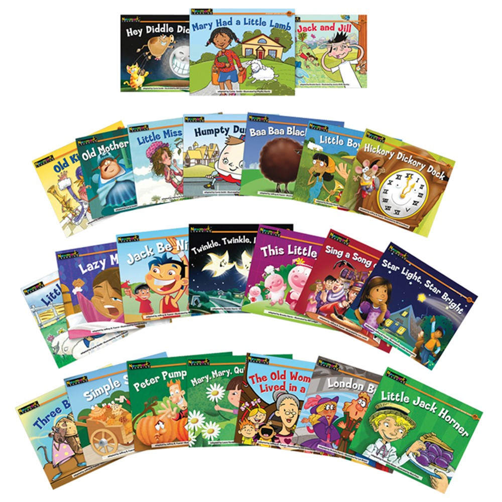 NL-1065 - Rising Readers Fiction 24 Title Set Volumes 2 & 3 Nursery Rhyme Tales in Reading Skills