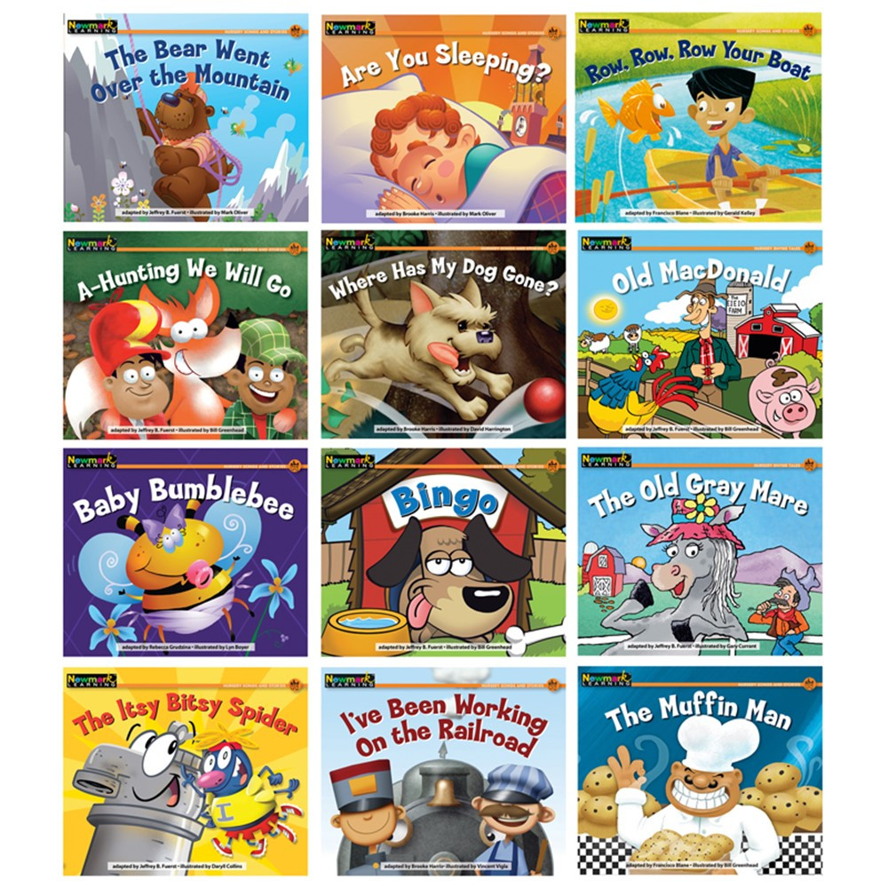 NL-1066 - Rising Readers Leveled Books Nursery Rhyme Songs & Stories 12 in Leveled Readers