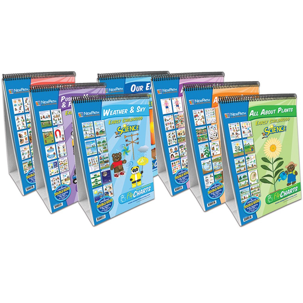NP-340035 - Flip Charts Set Of All 7 Early Childhood Science Readiness in Activity Books & Kits