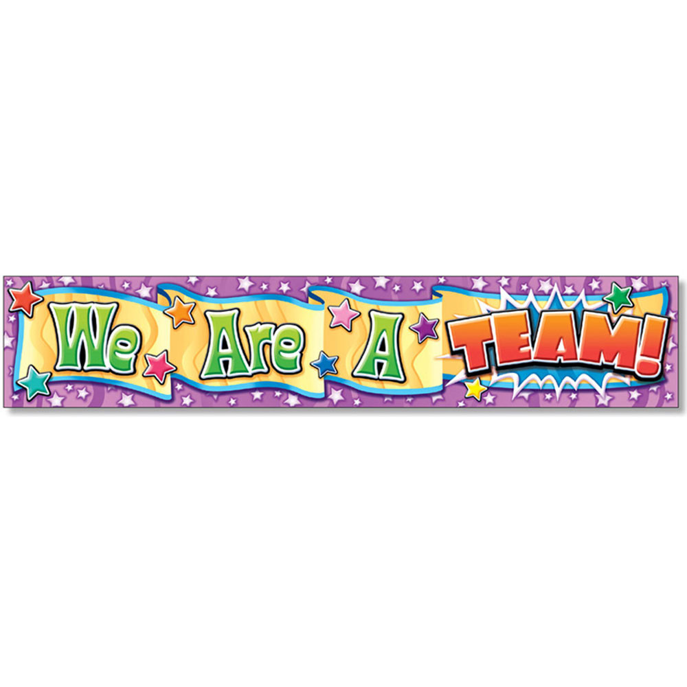 NST1204 - We Are A Team Banner in Banners
