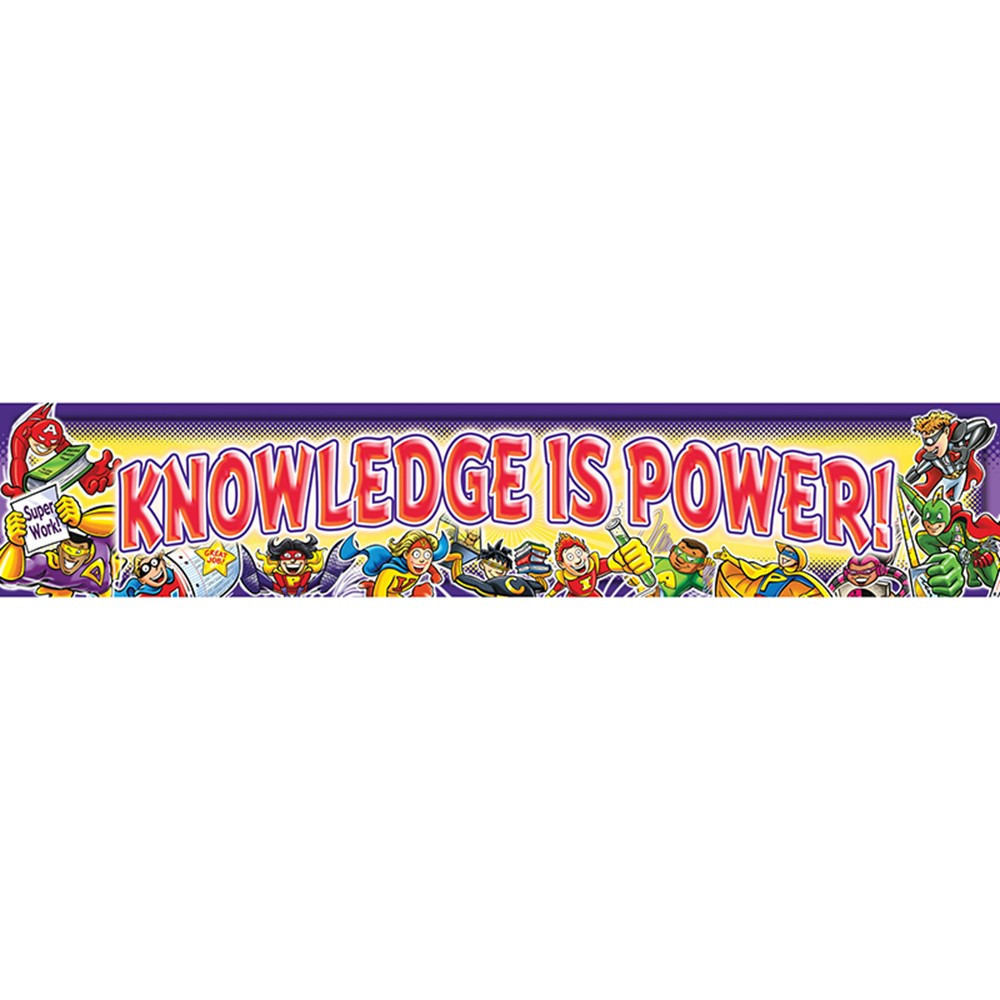 NST1213 - Knowledge Is Power Banner in Banners