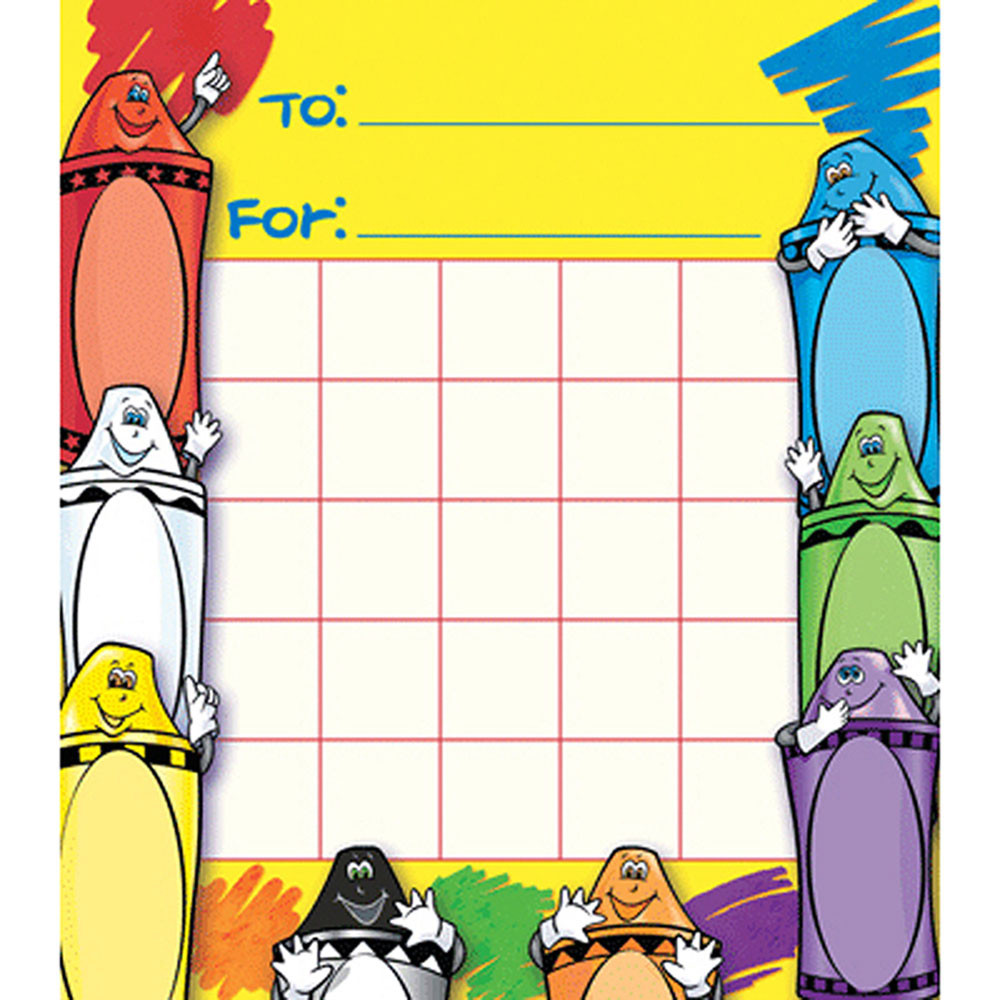 NST2206 - Crayons Motivational Charts in Motivational
