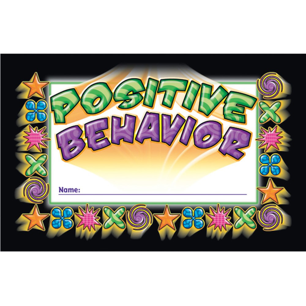 NST2406 - Incentive Punch Cards Positive Behavior 36/Pk in Tickets