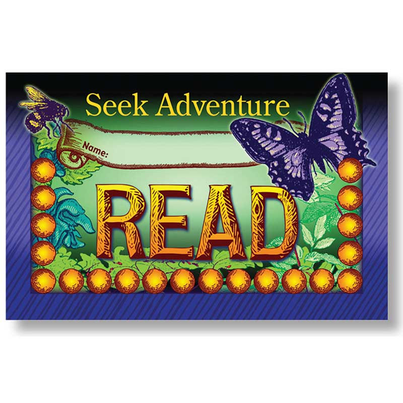 NST2418 - Seek Adventure Read Incentive Punch Cards in Language Arts