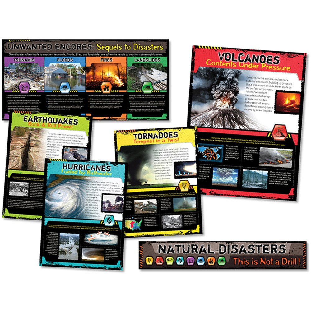 NST3053 - Natural Disasters Bulletin Board Set in Science