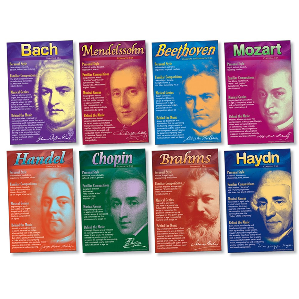 NST3072 - Composers Bulletin Board Set in Miscellaneous