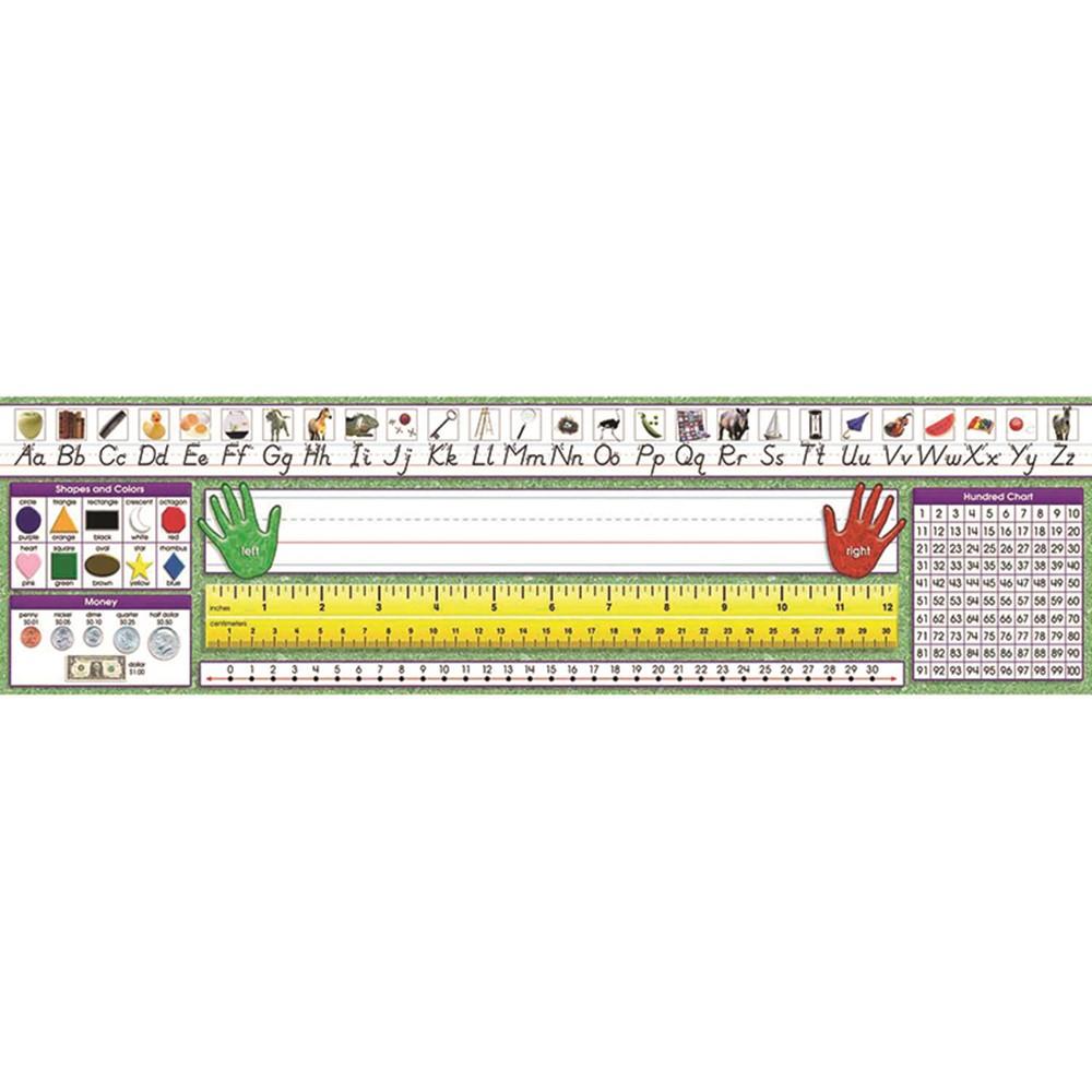 Modern Manuscript Primary Desk Plates 19 X 5 Pack Of 36 Nst9004 North Star Teacher Resource Name Plates