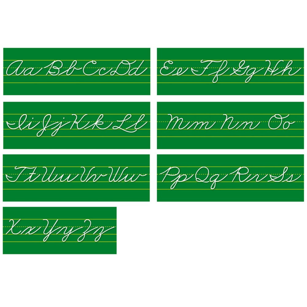 NST9011 - Alphabet Lines Traditional Cursive in Alphabet Lines