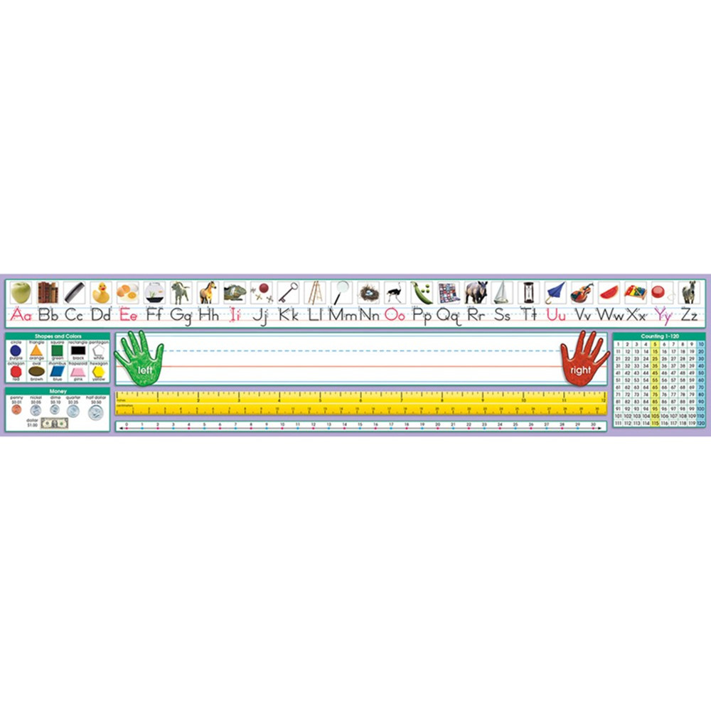 NST9040 - Traditional Manuscript Desk Plate 17-1/2 X 4 36Pk in Name Plates