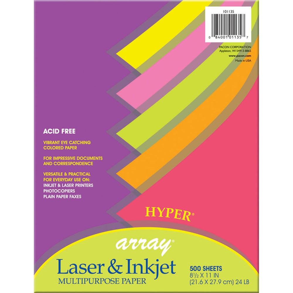 PAC101135 - Array Multipurpose 500Sht Hyper Colors 24Lb Paper in Design Paper/computer Paper