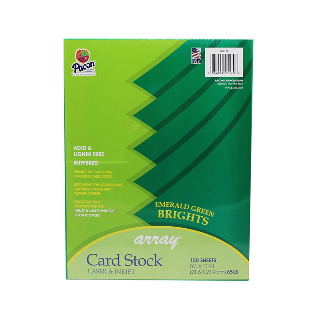 PAC101170 - Array Card Stock Brights Emerald Green in Card Stock