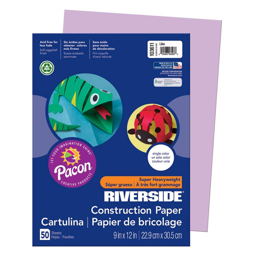 PAC103611 - Riverside 9X12 Lilac 50 Sht Construction Paper in Construction Paper