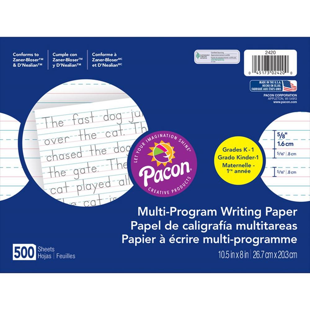 PAC2420 - Dnealian Multi-Program Handwrting K 10 1/2 X 8 5/8 Long in Handwriting Paper