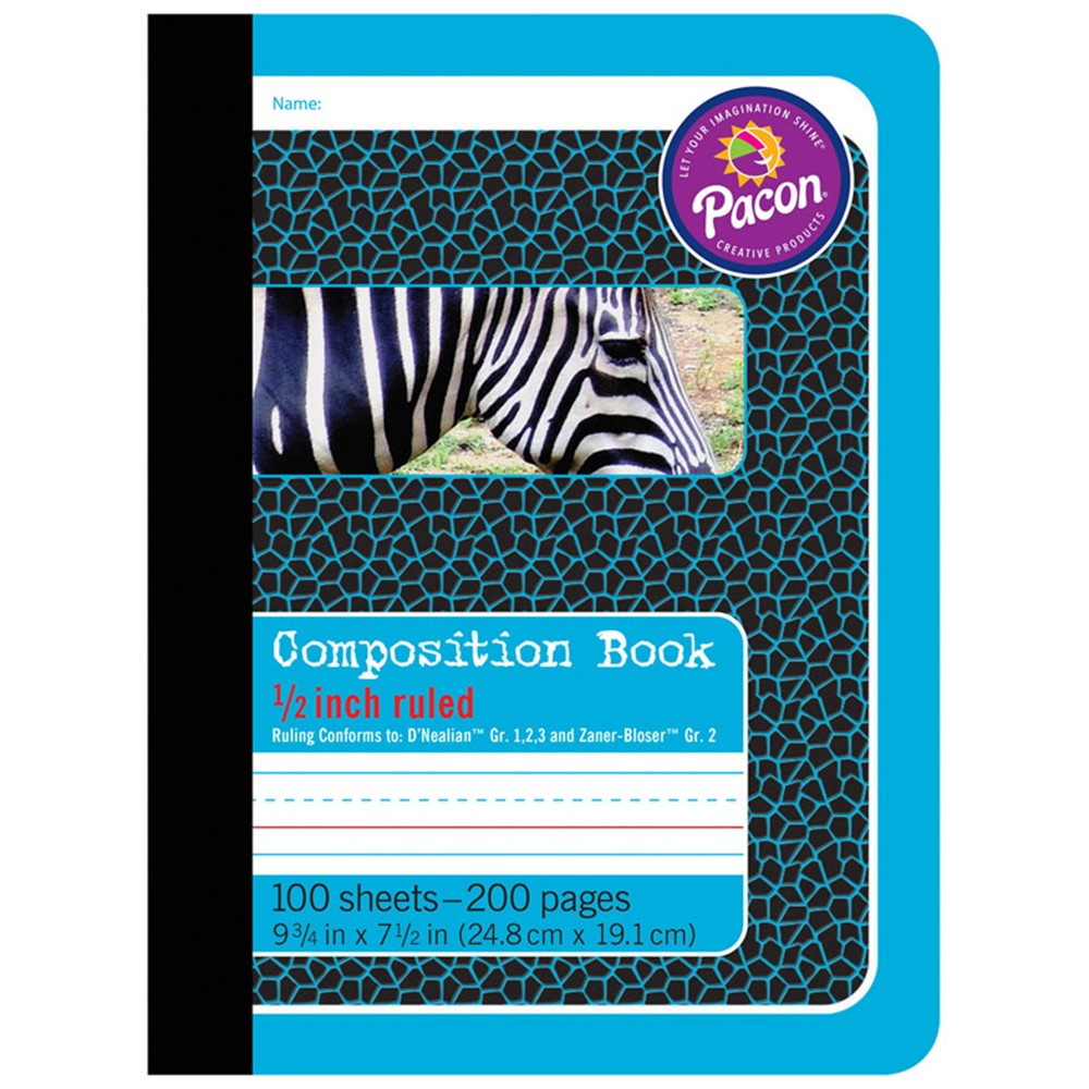 PAC2425 - Composition Books 1/2In Ruled in Note Books & Pads