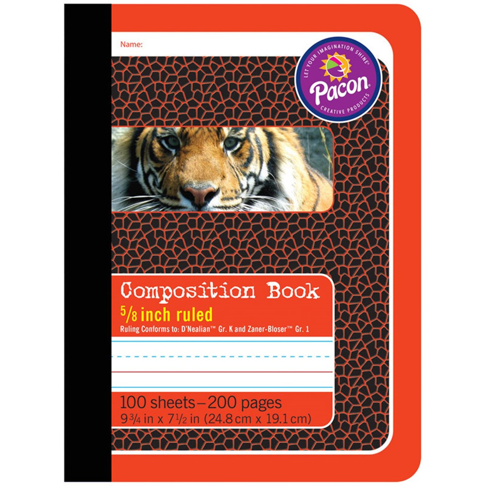 PAC2427 - Composition Books 5/8In Ruled in Note Books & Pads