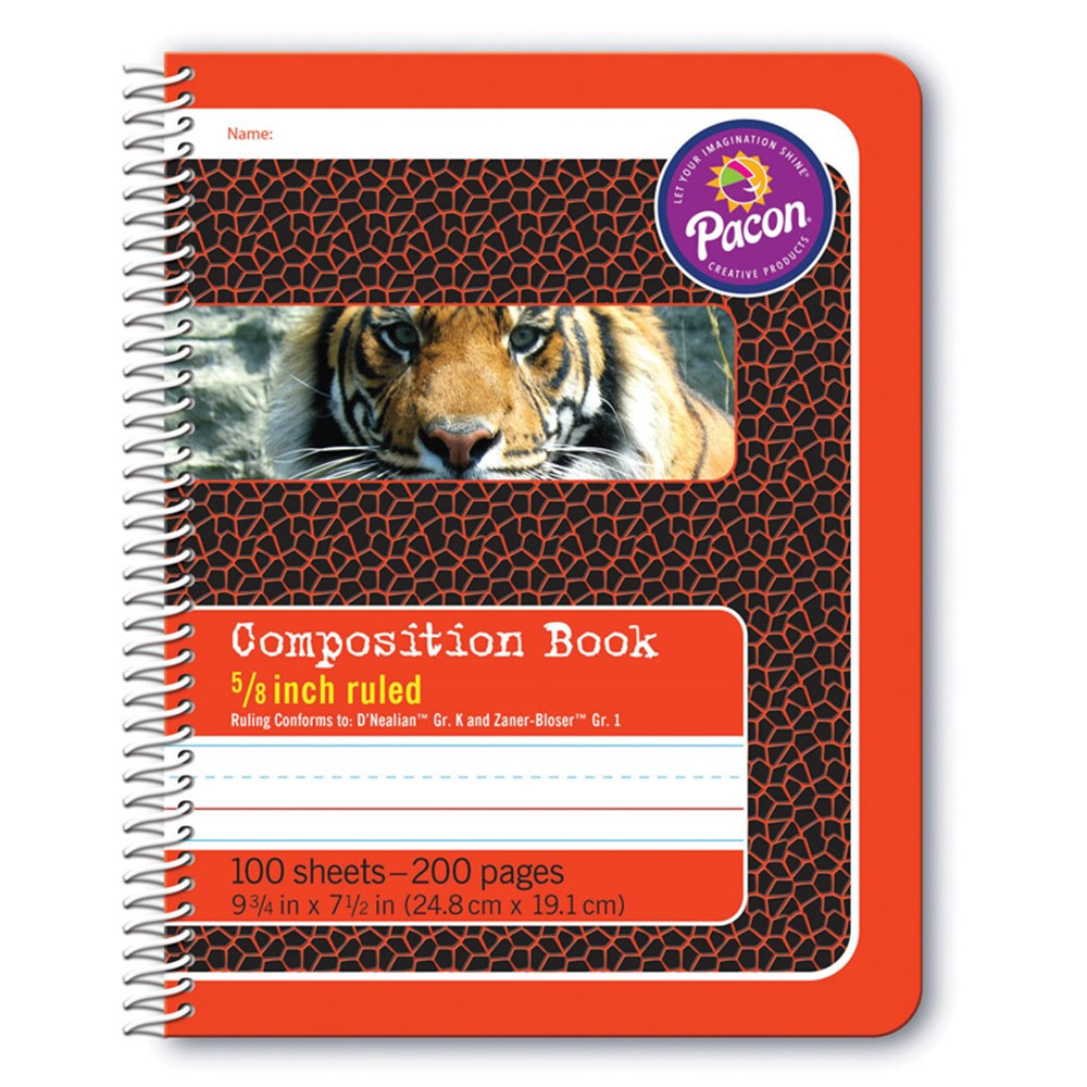 PAC2432 - Composition Book 5/8In Ruled Spiral Bound in Note Books & Pads