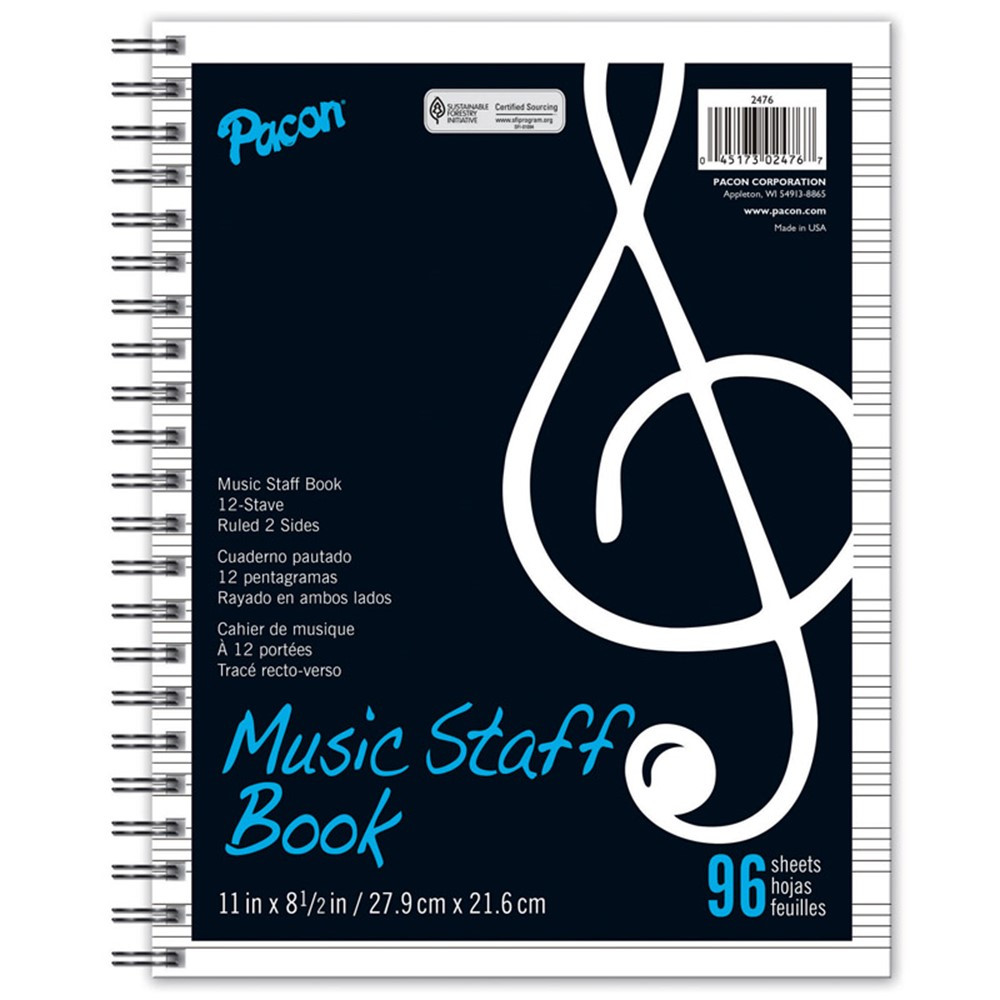PAC2476 - Music Staff Paper in Activity/resource Books