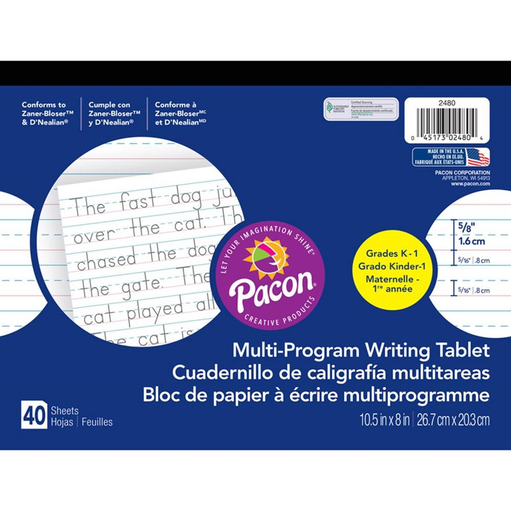PAC2480 - Dnealian Multi-Program Handwriting Ppr K 10 1/2 X 8 5/8 L in Handwriting Paper