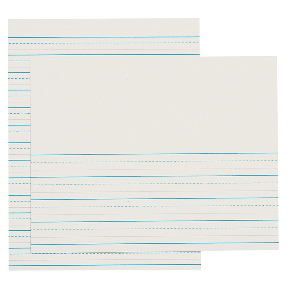 photo relating to Red and Blue Lined Handwriting Paper Printable called D-Nealian Dominated Pads 500 Sht/Ream 2Nd 3Rd Gr