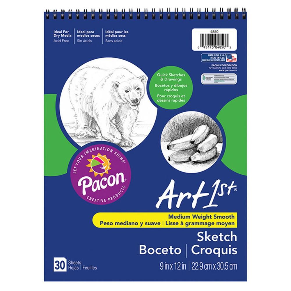 PAC4850 - Art1st Sketch Book 9X12 30 Sht Wht in Sketch Pads
