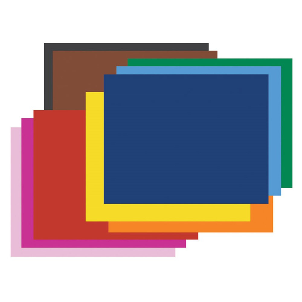 PAC54871 - 4 Ply Rr Poster Board 25 Sht Assorted in Poster Board