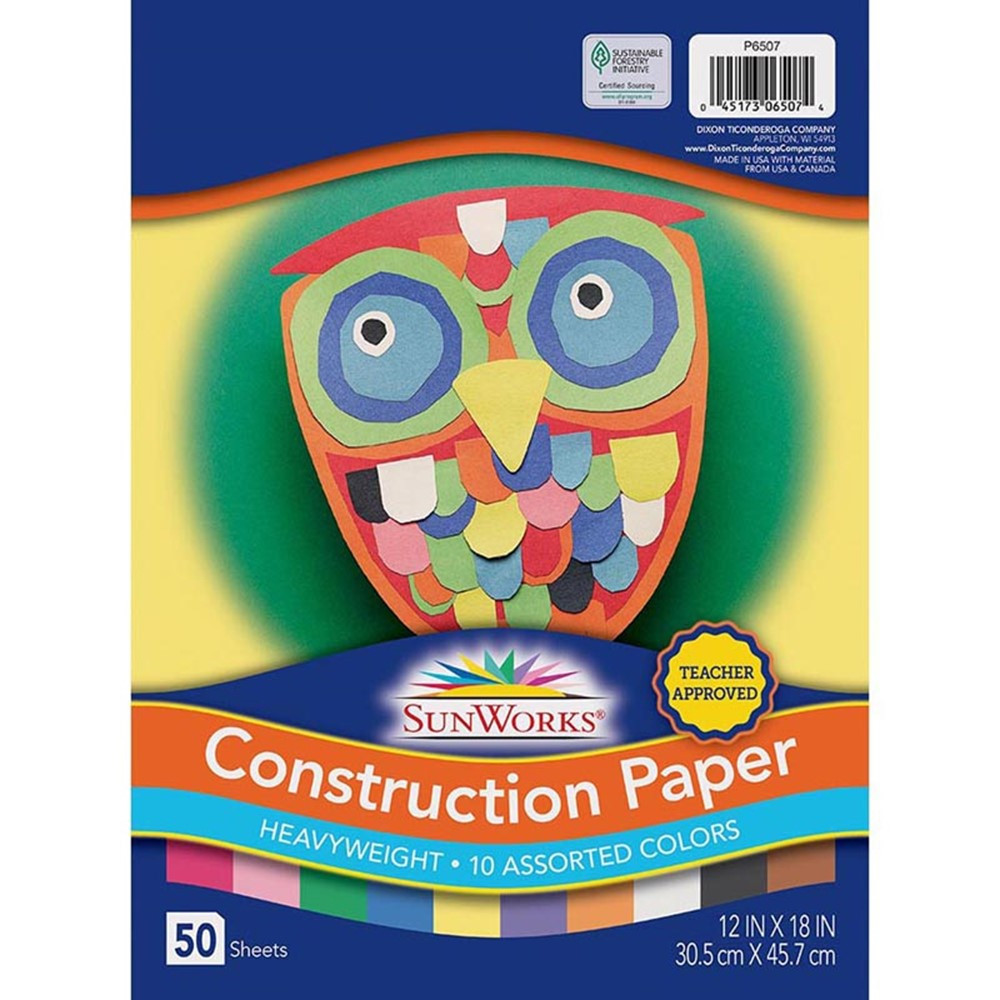 PAC6507 - Construction Paper Assorted 12X18 in Construction Paper