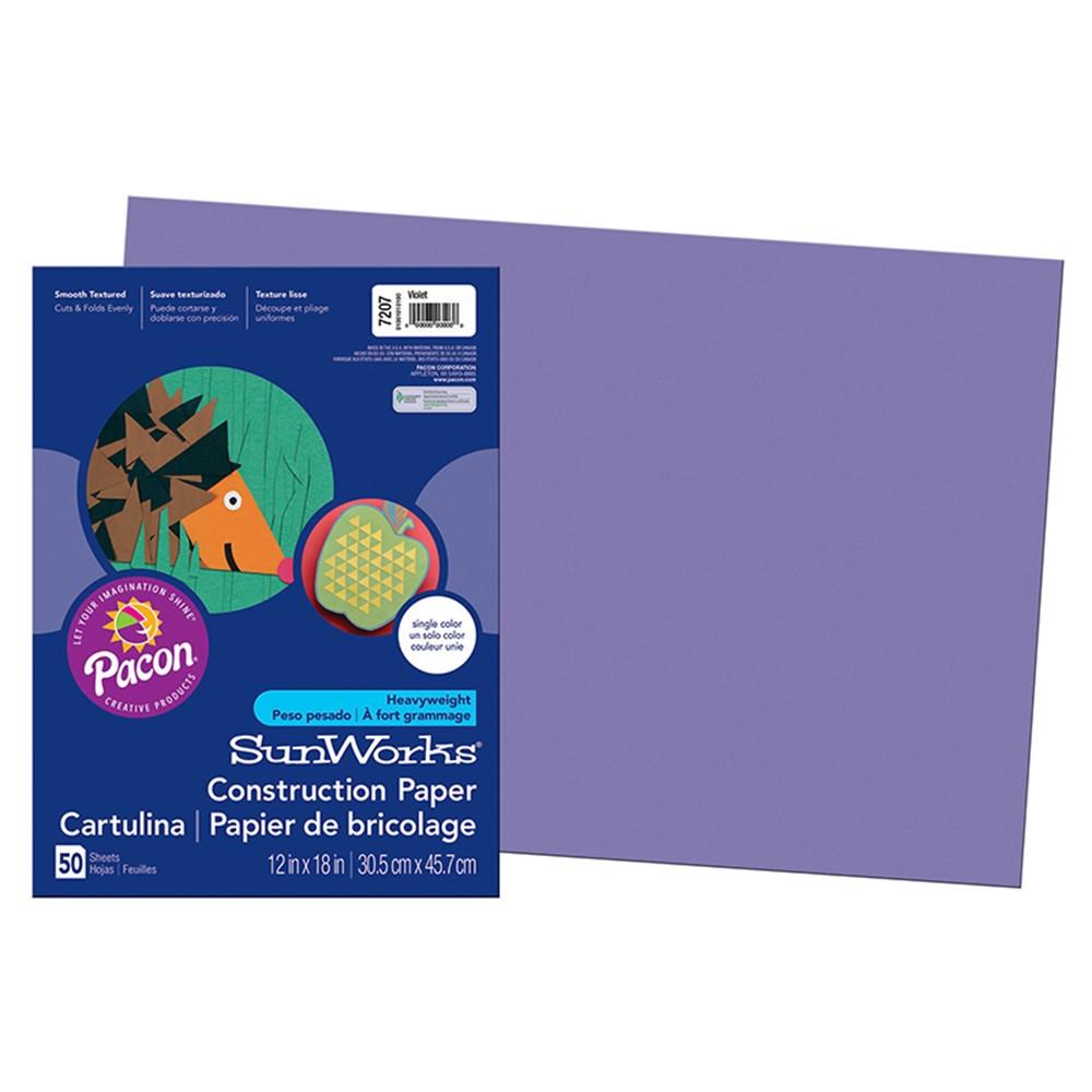 PAC7207 - Construction Paper Violet 12X18 in Construction Paper
