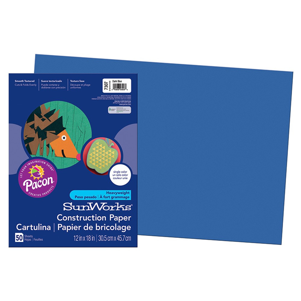 PAC7307 - Construction Paper Dark Blue 12X18 in Construction Paper