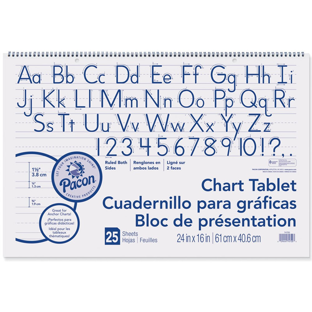 Chart Tablet 1.5In Ruled 25Ct 24X16 - PAC74720 | Pacon Corporation ...
