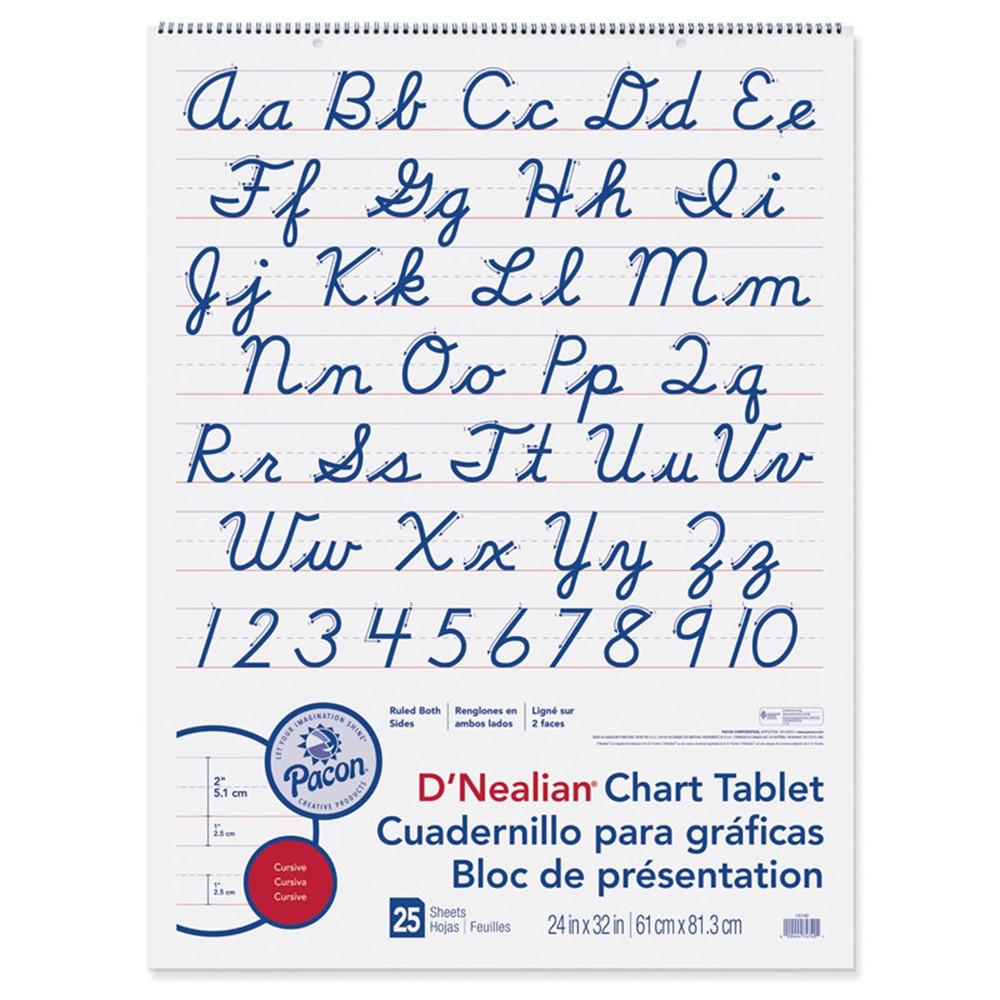 PAC74740 - D Nealian Chart Tablet Cursive in Chart Tablets