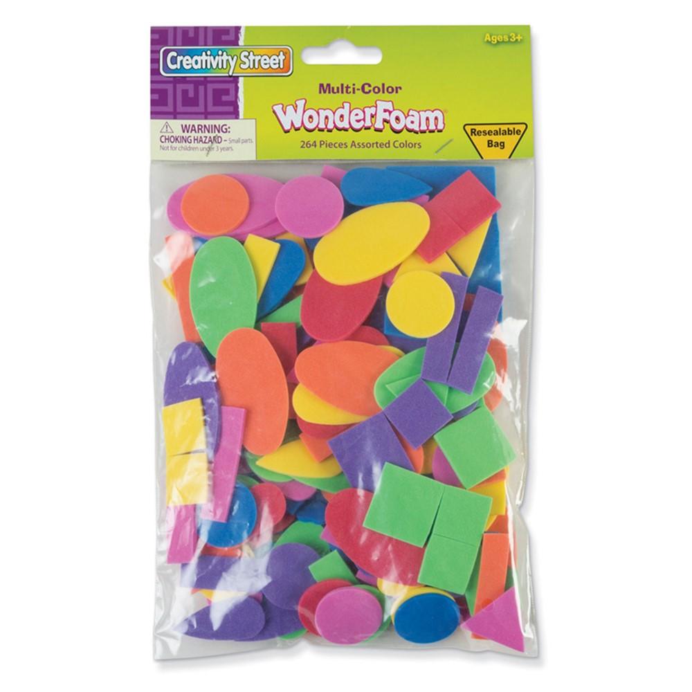 Shapes Assortment, Assorted Colors & Sizes, 264 Pieces - PACAC4312   Dixon Ticonderoga Co - Pacon   Foam