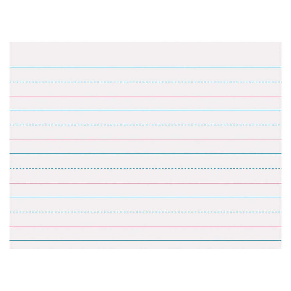 PACZP2410 - Zaner Bloser 1-1/8In Ruled Sulphite Paper Gr K in Handwriting Paper