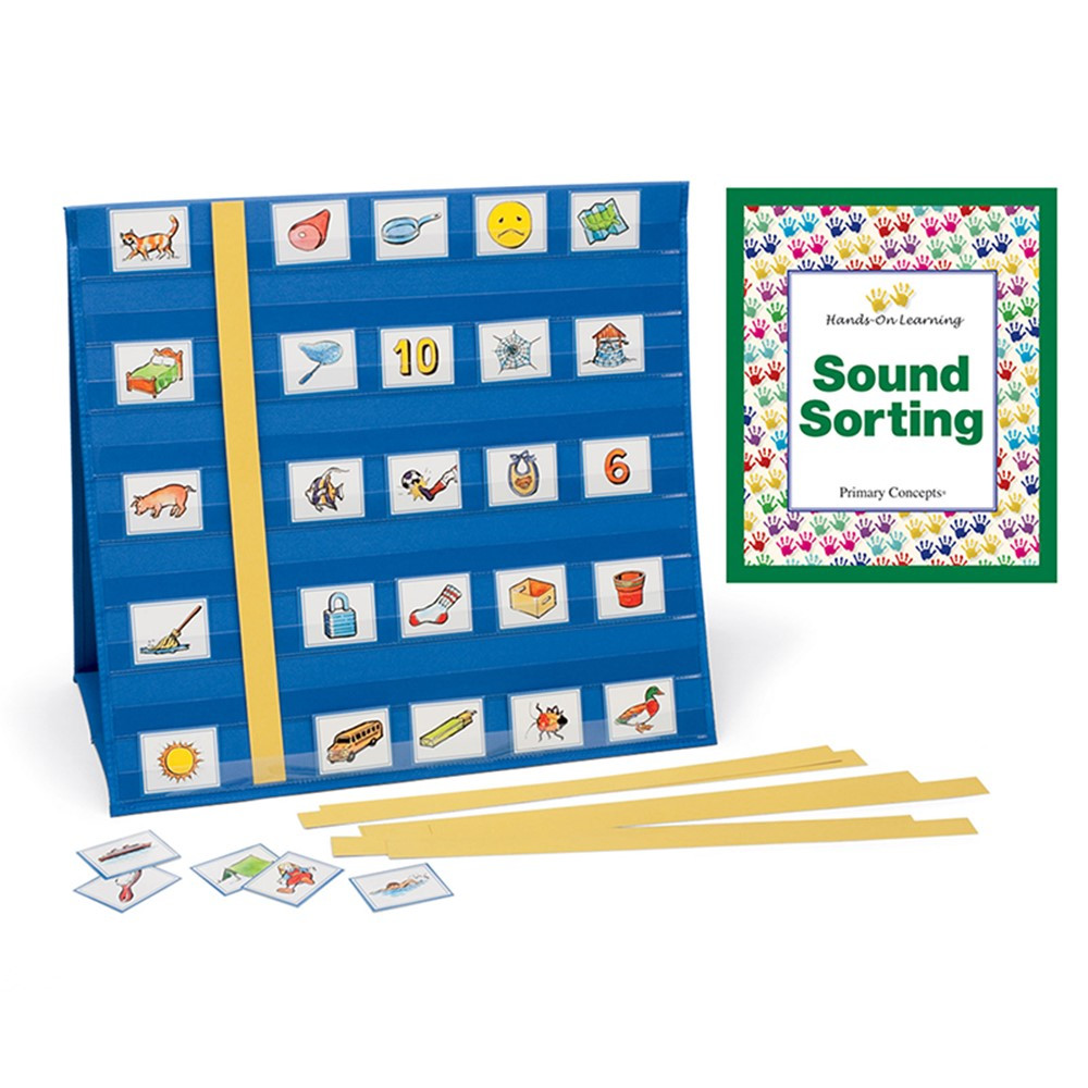 Sound Sorting Kit with Portable Pocket Chart - PC-1109 | Primary Concepts, Inc | Pocket Charts