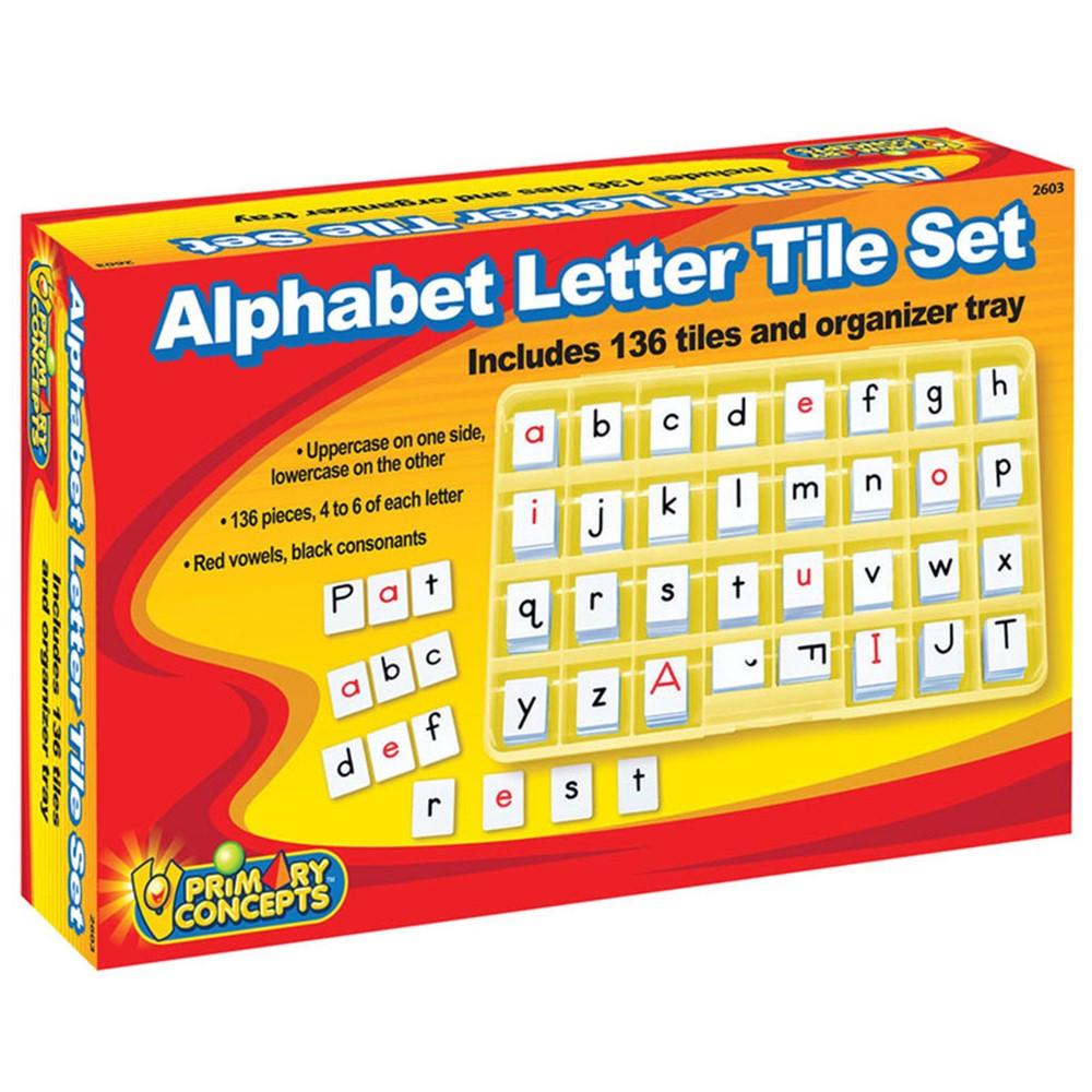 PC-2603 - Alphabet Letter Tile Set in Letter Recognition