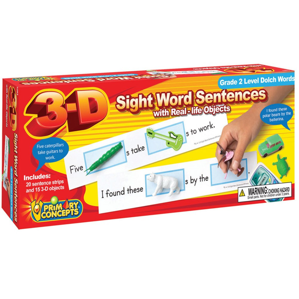 PC-5283 - 3-D Sight Word Sentences Grade 2 Level Dolch Words in Sight Words