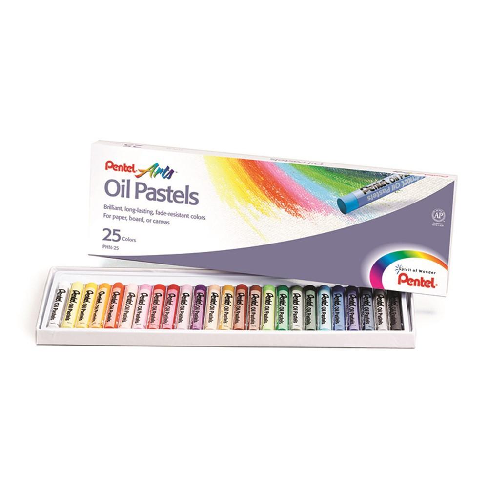 PENPHN25 - Pentel Oil Pastels 25 Ct in Pastels