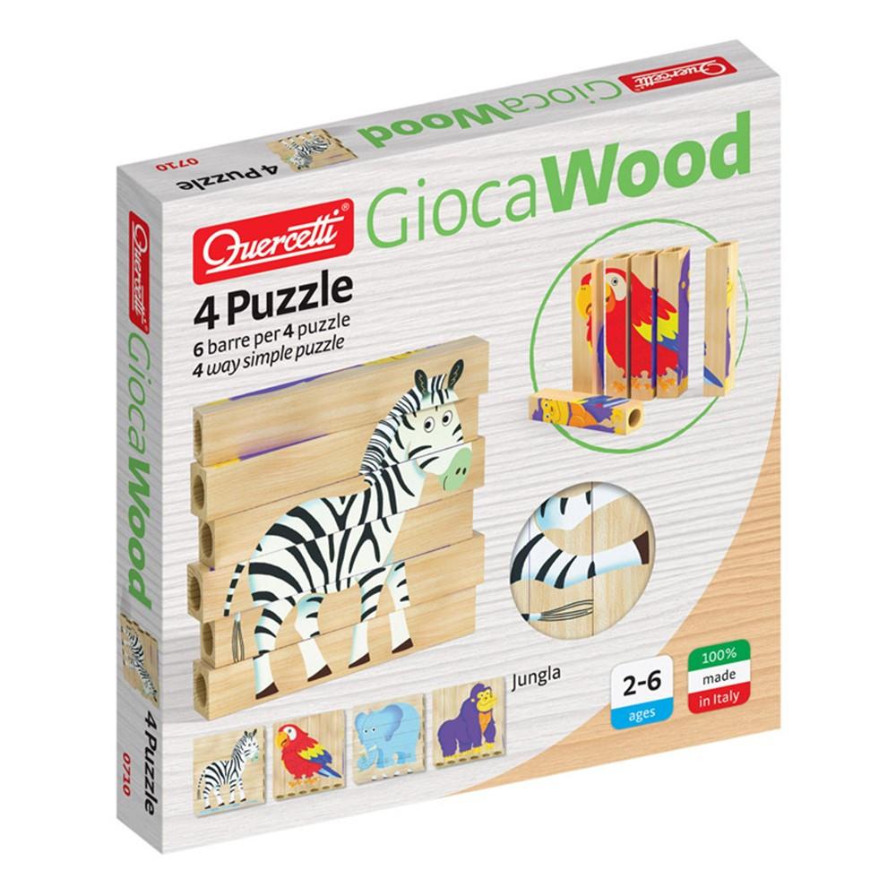 4 Puzzle Jungle - QRC0710 | Quercetti Usa Llc | Wooden Puzzles