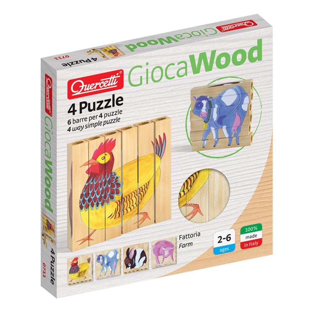 4 Puzzle Farm - QRC0711   Quercetti Usa Llc   Wooden Puzzles