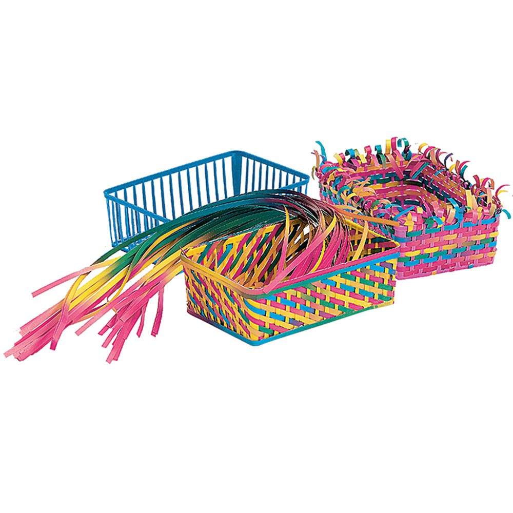 R-16003 - Weaving Baskets 12 Baskets 150 Strip in Art & Craft Kits