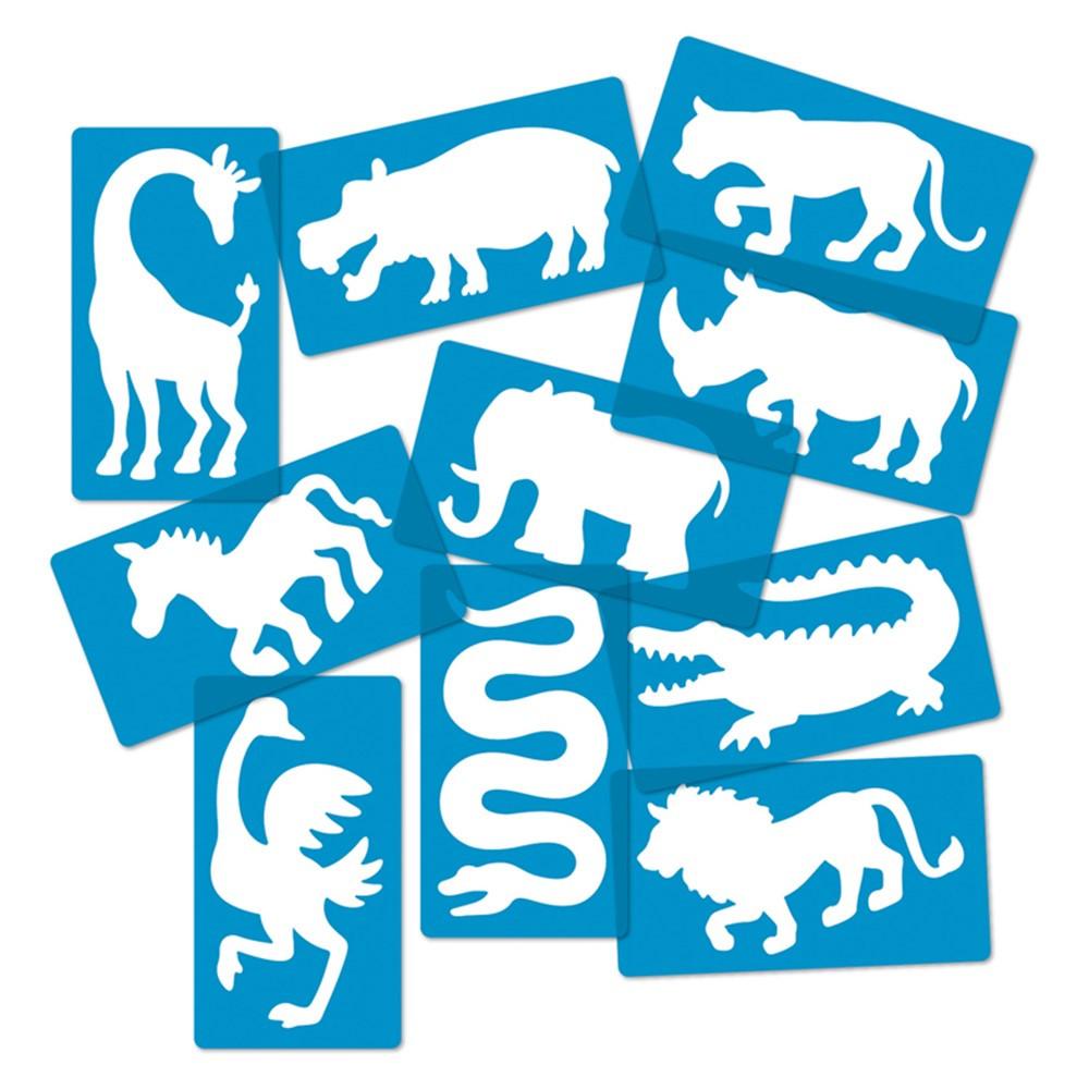 Safari Animal Stencils, Set of 10 - R-58631 | Roylco Inc. | Stencils