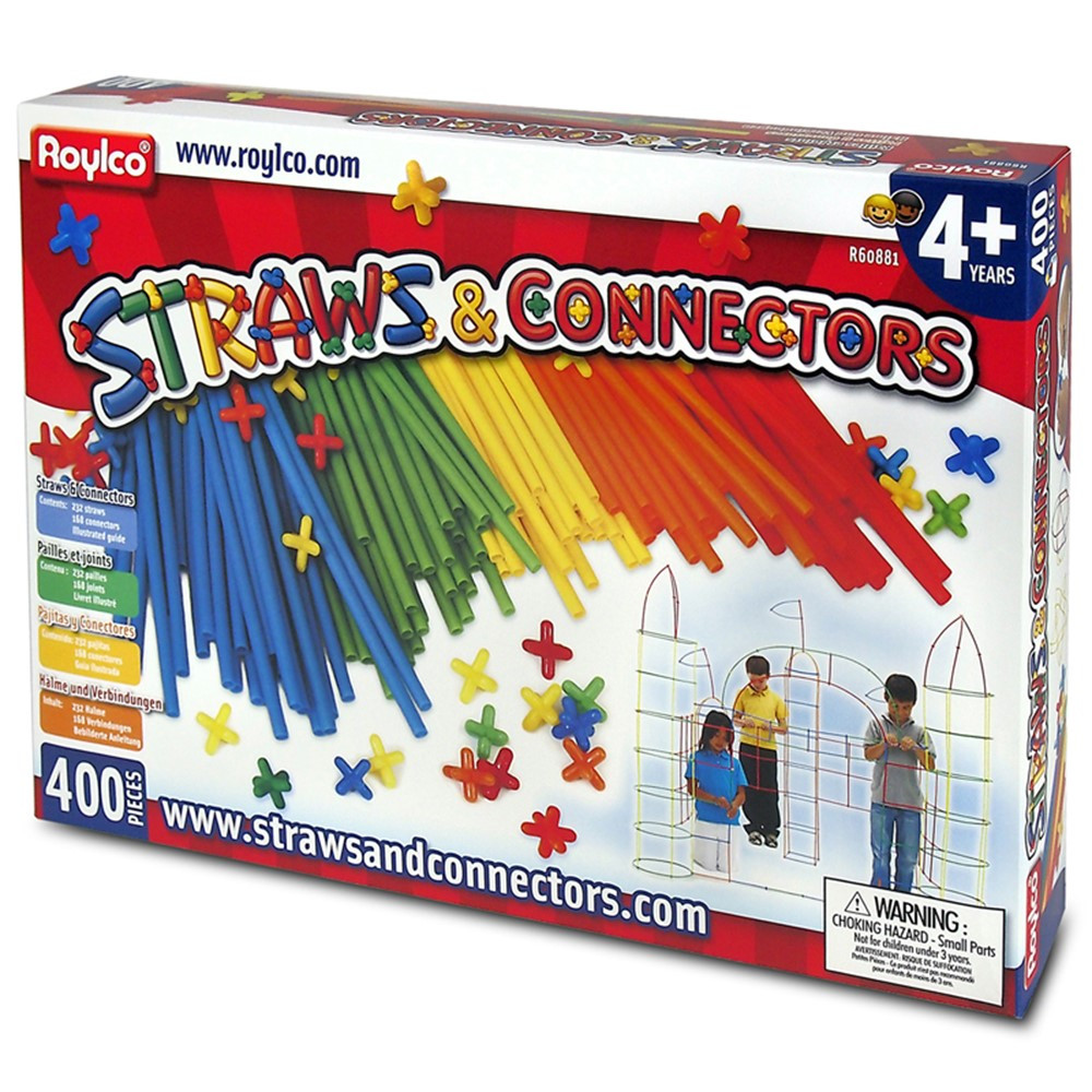 R-60881 - Straws & Connectors 400Pcs in Blocks & Construction Play