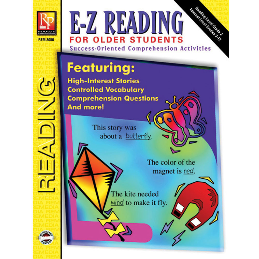 REM3050 - E-Z Reading For Older Students in Reading Skills