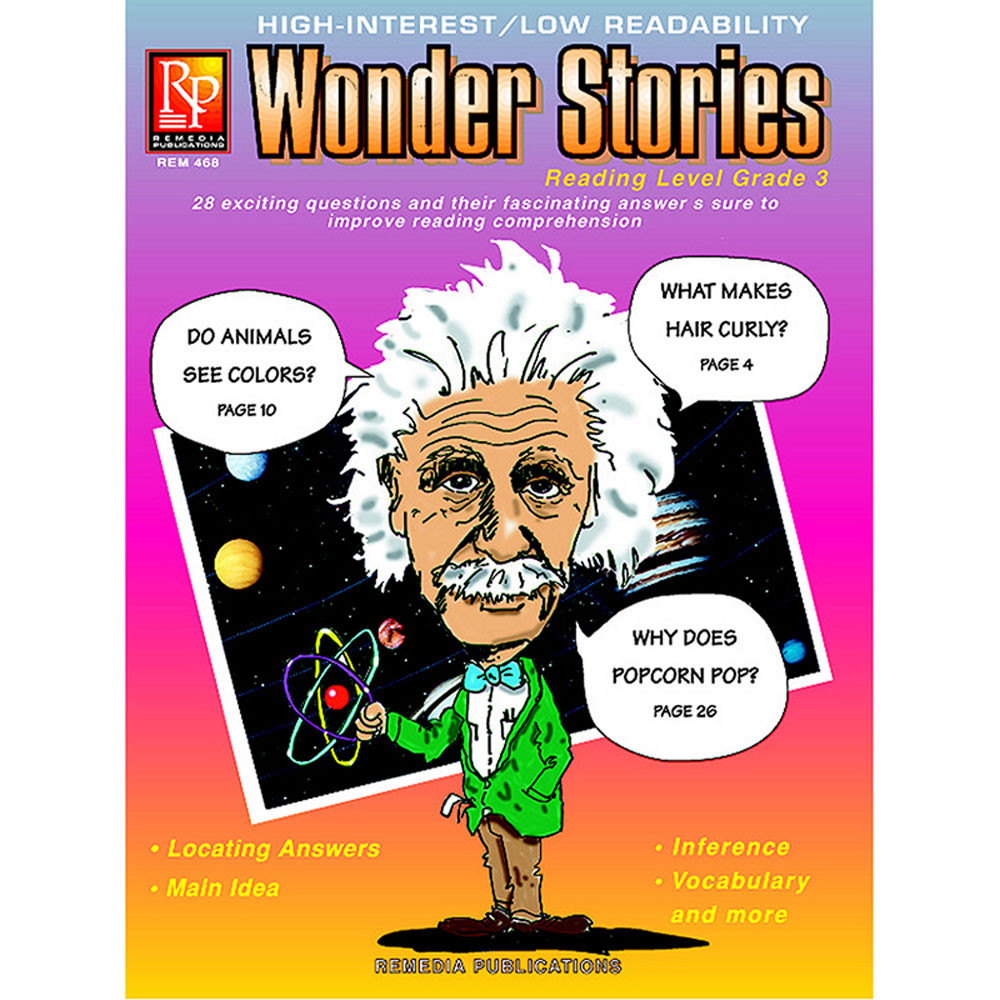 REM468 - Wonder Stories 3Rd Gr Reading Level in Reading Skills